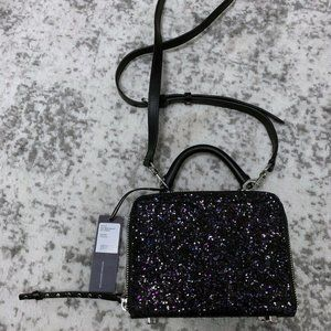 Rebecca Minkoff NWT Glitter Box Cross Body Bag